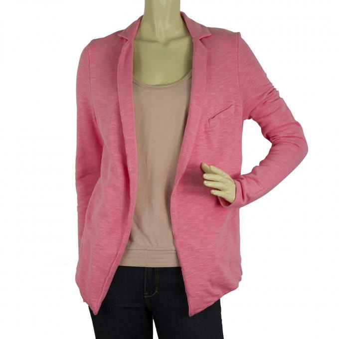 American Vintage Pink Open Front Cotton Summer Cardigan jacket sz M