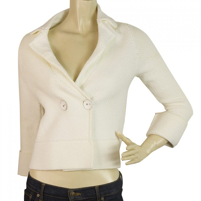 BP Studio White Large Button Closure Cardigan Cardi Cotton Jacket size S