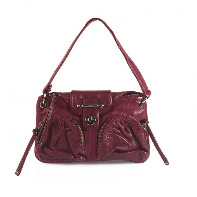 Botkier Burgundy Leather Flap Top Closure Small Shoulder Bag Handbag