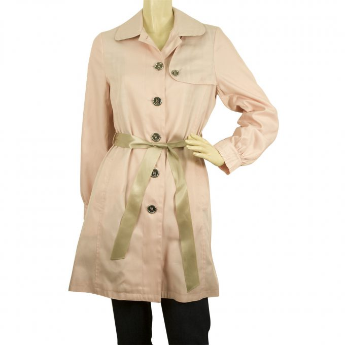 Burberry Girl's 14Y Pink Cotton Polyester Raincoat Mac Belted Trench Jacket Coat