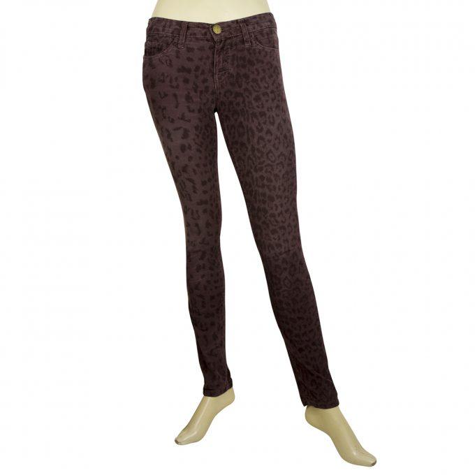 Current Elliott Purple Leopard Animal print Baby Cord Corduroy Trousers Pants 24