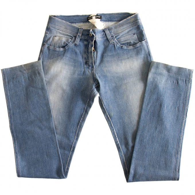 Dolce & Gabbana D&G Blue Washed Jeans Denim Pants Trousers - sz 38 w. Zipper