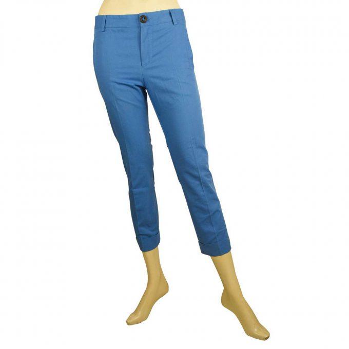 Dsquared 2 D2 Blue Capri Cropped Skinny Cotton S75KA0338 Trousers Pants sz 38