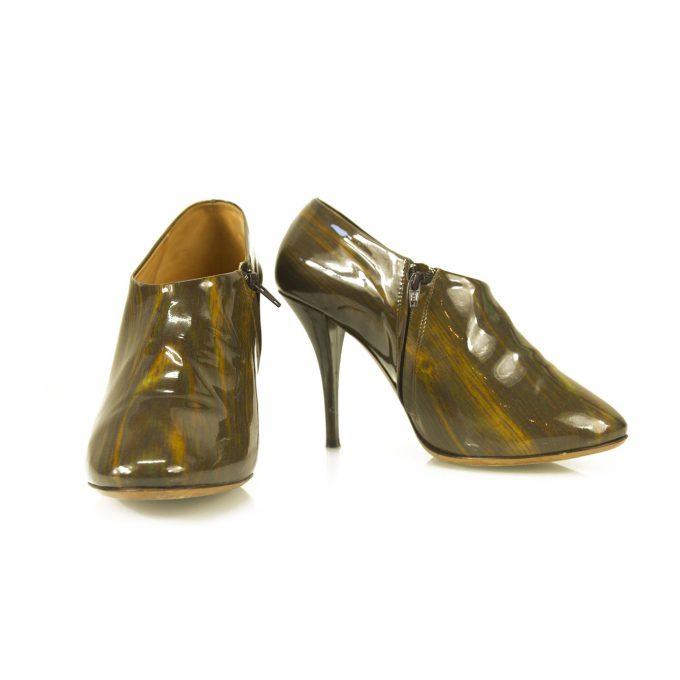Maison Martin Margiela Khaki Brown Melange Zipper Ankle Booties Boots size 40