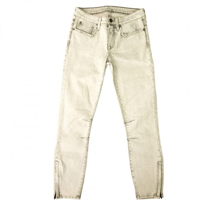 Guaranteed authentic Helmut Lang Light Gray Slim Denim Jeans PantsTrouser - sz25