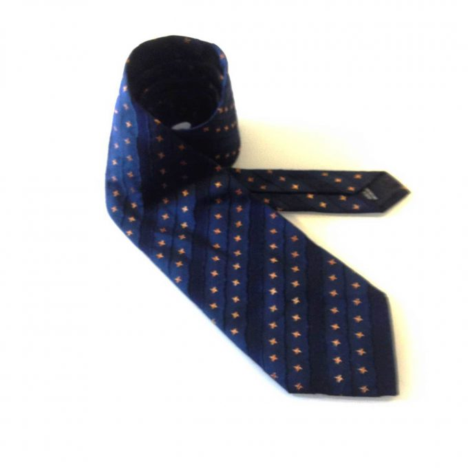 JOOP! Blue with Yellow Stars Silk Neck Tie Necktie
