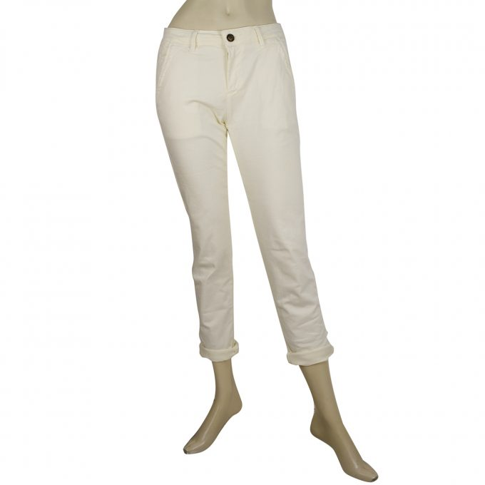 Reiko Cream Vanilla Pale Yellow Pants Elasticated Skinny Trousers size 2