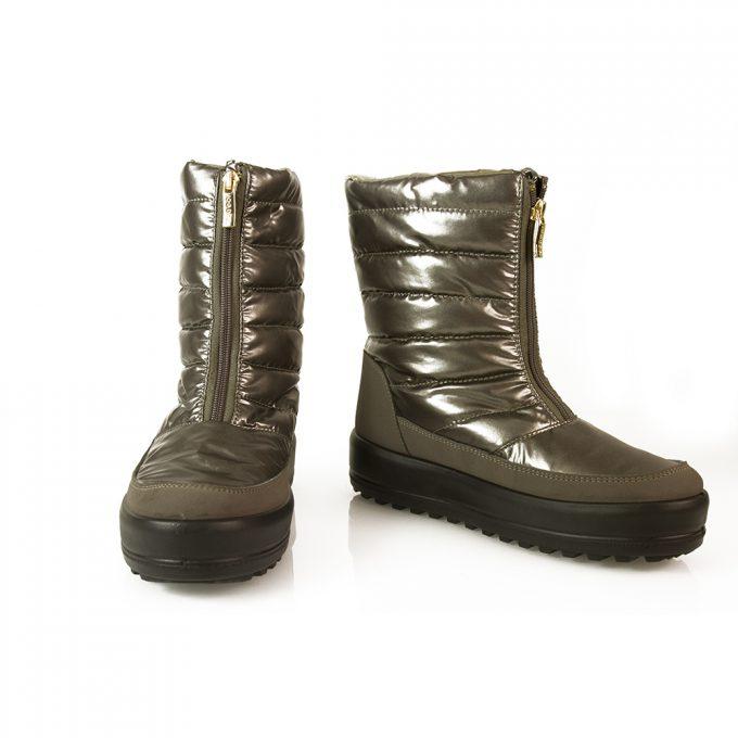 Jog Dog Anthracite Gray Nylon Platform Snow Apres Ski Boots Booties Shoes sz 38