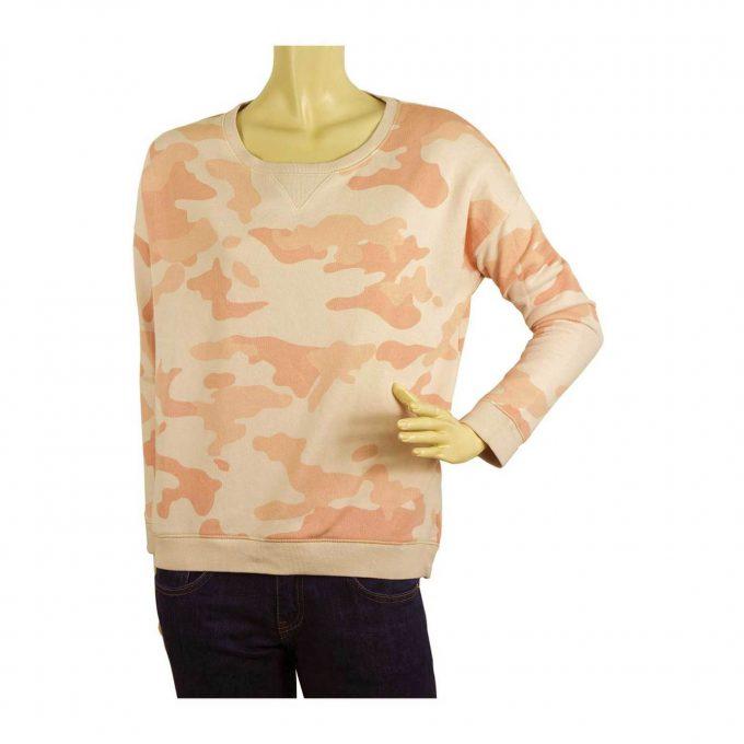 Zoe Karssen Pink Hues Army Camo Print Long Sleeve Sweatshirt Top Blouse Size S