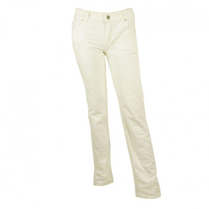Kiton White Pants Classic Cigarette Baumwalle Cotton Trousers - sz 40