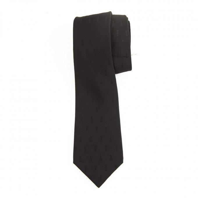 Lanvin 100% Silk Dark Blue Men's Formal Classic Neck Tie Necktie