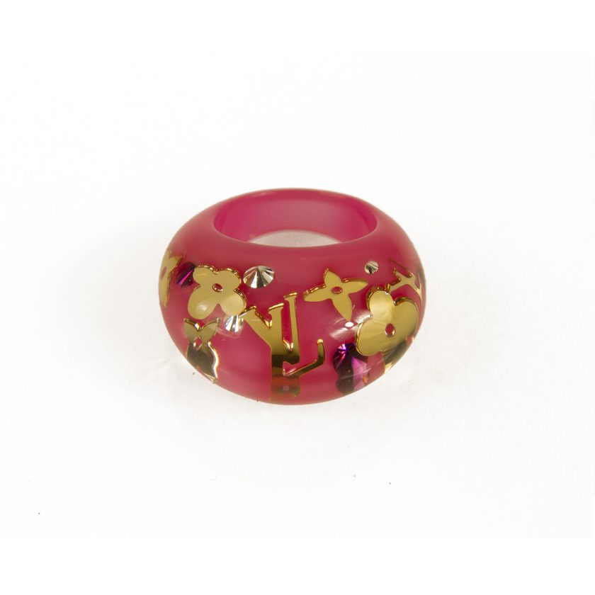 Louis Vuitton Fuchsia Inclusion Resin Swarovski Bague Inclusion Dome Ring Berg