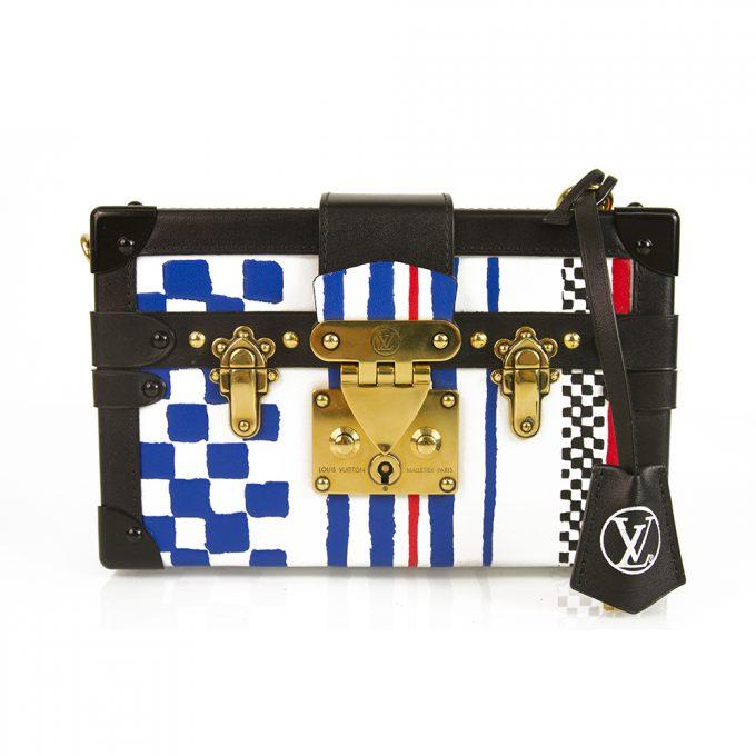 Louis Vuitton Petite Malle Grand Prix Clutch / Shoulder Hand Bag ultra limited edition