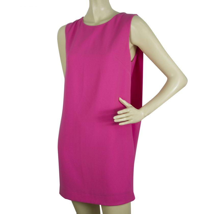 Manolo Fuchsia Pink Pleated Back Sleeveless Mini Dress size S