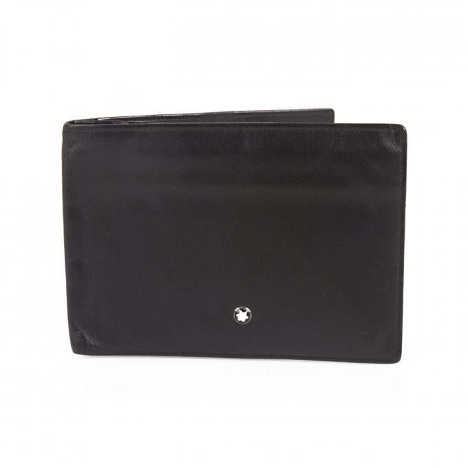 Montblanc Mont Blanc Black Leather Men's Bifold Wallet