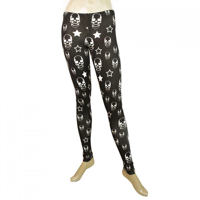 Philipp Plein Black & White Skulls Leggings Elastic Viscose trousers pants XS