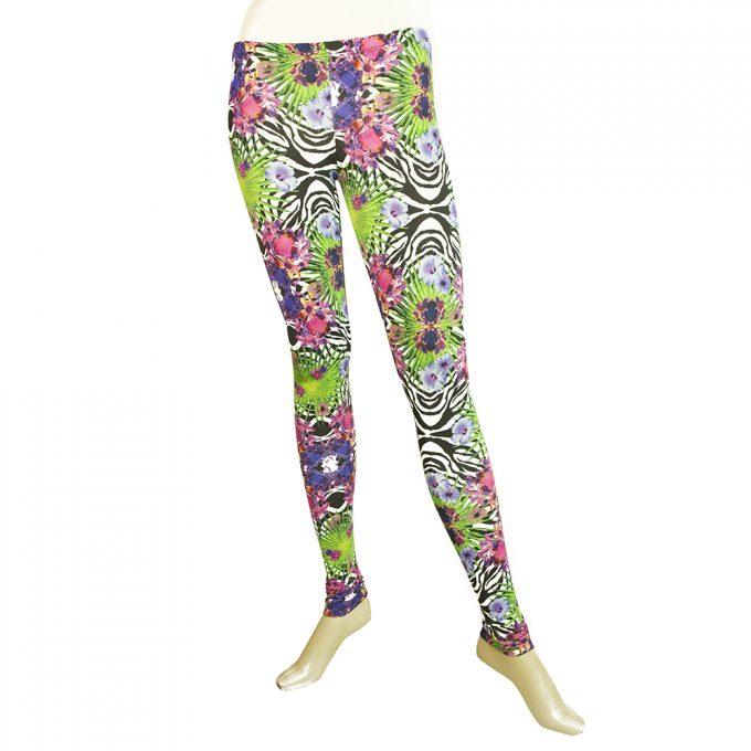 Philipp Plein Multicolor Floral Leggings Elastic Viscose trousers pants XS