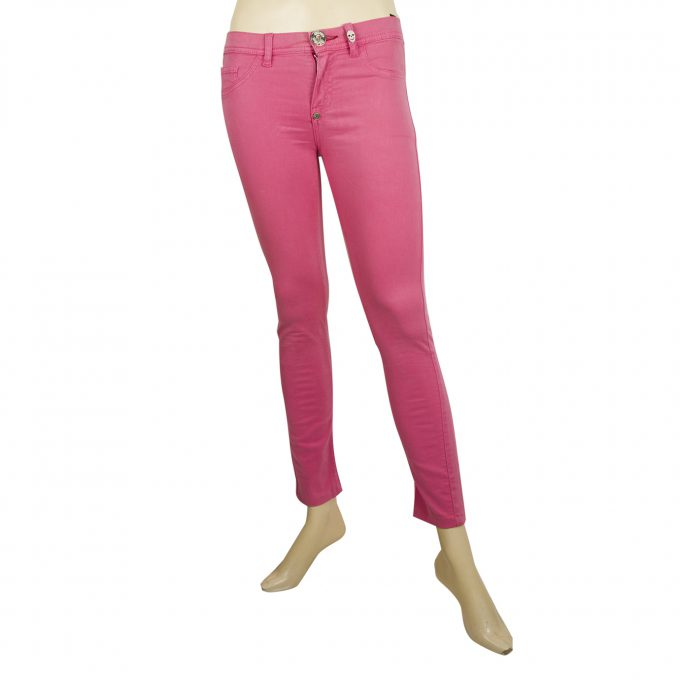 Phillip Plein Devil's Food Jeggins Pink Fuchsia Skinny jeans trousers pants 26