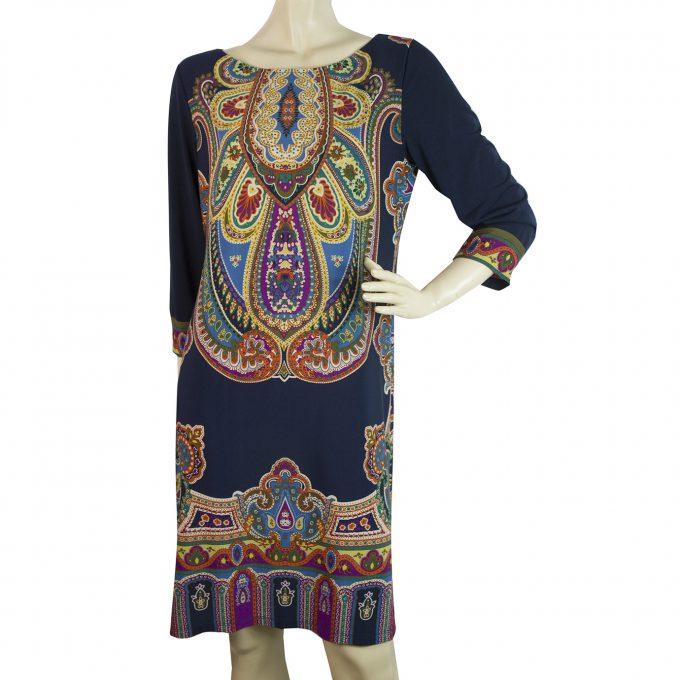 Ralph by Ralph Lauren Multicolored Paisley Silk knee length dress Size 1X