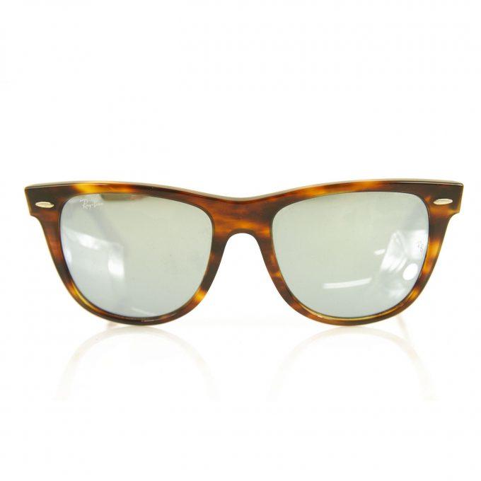 Ray Ban Wayfarer RB2140 1178/30 Tortoise Gray Red Mirrored Unisex Sunglasses