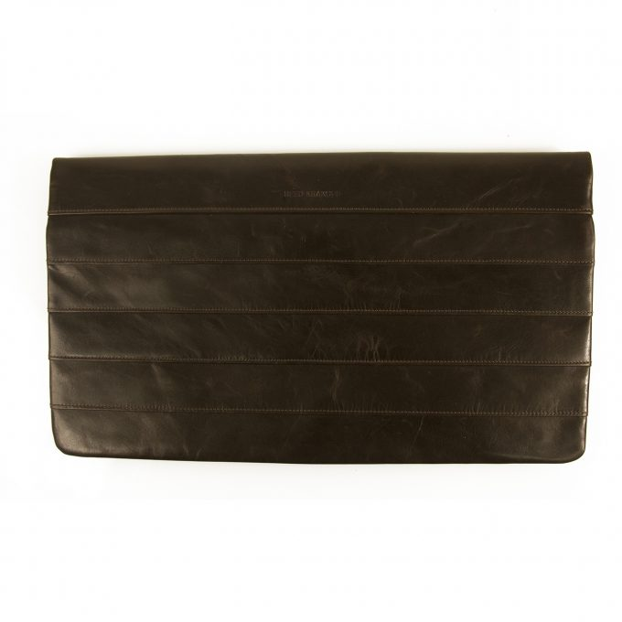 Reed Krakoff Brown Nappa Leather Simple Clutch Full flap Rectangle bag $490 SRP