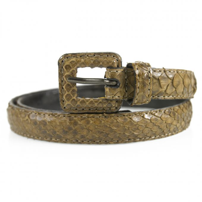 Richard Gampel Genuine Brown snakeskin leather Women's Belt size 70
