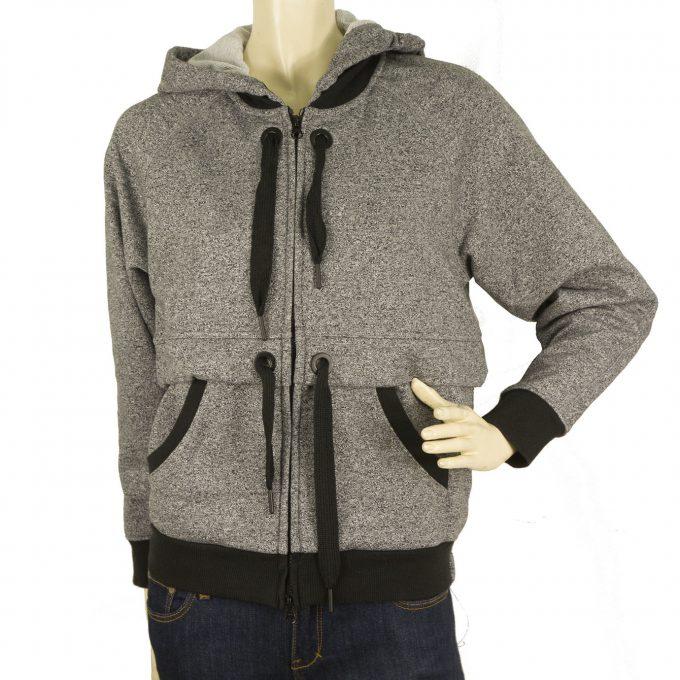 "Adidas Stella McCartney "" Ess "" Gray Hooded Jacket Zipper Closure Top - Size XS"