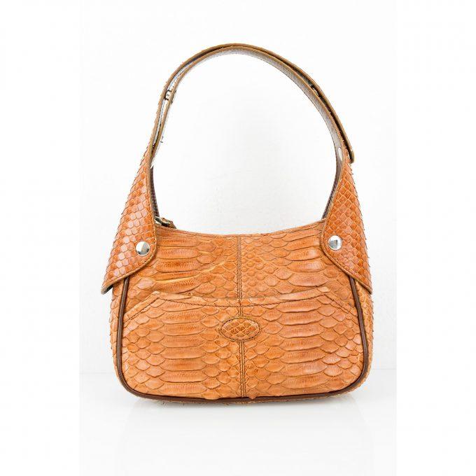 Tod's small snakeskin shoulder handbag / pochette bag adjustable strap