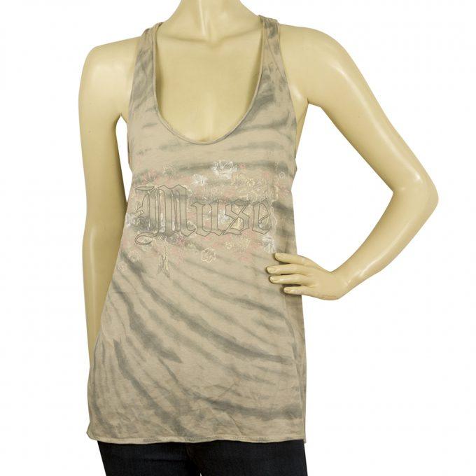 Zadig & Voltaire Alda Print Tie & Dye Sleeveless Tank Top Race back Blouse sz S