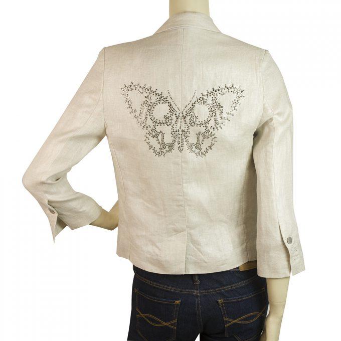 Zadig & Voltaire Deluxe beige linen blazer virgo lin bis deluxe jacket sz M