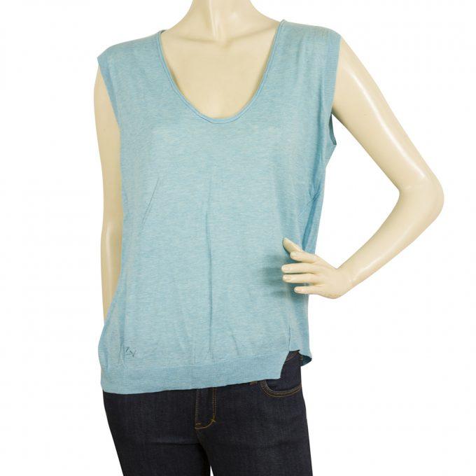 Zadig & Voltaire MARK BIS COP SWEATER Sleeveless Tank Top Cotton Blouse sz S