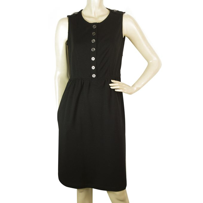 Burberry Brit Black Wool Sleeveless Knee Length Dress size UK 8 US 6