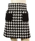 Chanel Black & White Wool blend 07A collection knee length skirt size 36