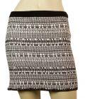 Helmut Lang Black & White Linen Blend Elasticated Mini Skirt size S