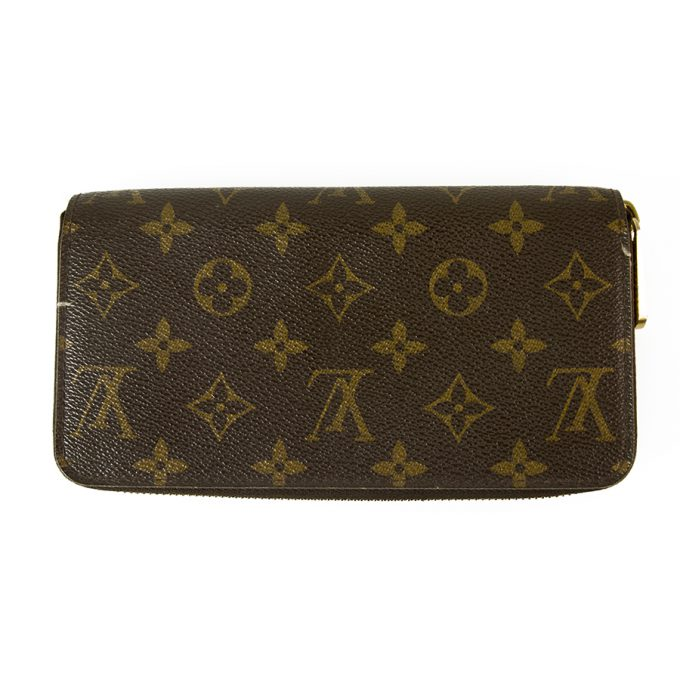 Louis Vuitton Zippy Wallet LV Monog2ram Canvas All Around Zipper Long Wallet