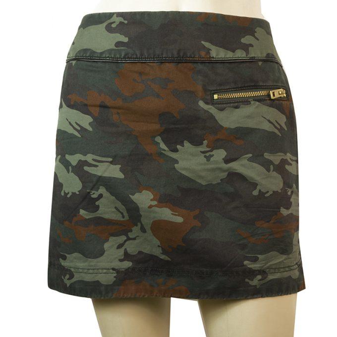 Zadig & Voltaire Jazz Camo Camouflage Army Khaki Mini skirt size 36